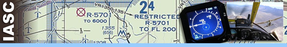 Image of map background with compass, and inset of plane windshield photo. Decorative banner.
