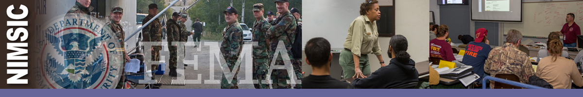 Photo on left shows National Guard Unit. Middle photo is of forest service representative training a group. Photo on right is a man standing in front of a classroom of students during a leadership course. Decorative.