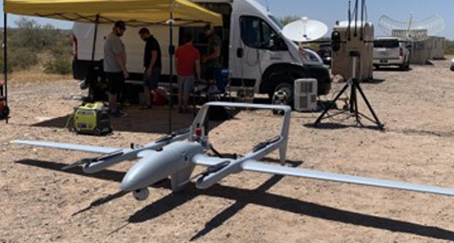 Image of a L3Harris HQ-90C unmanned aircraft.