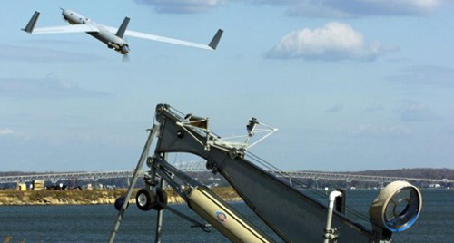 Image of a ScanEagle unmanned aircraft.