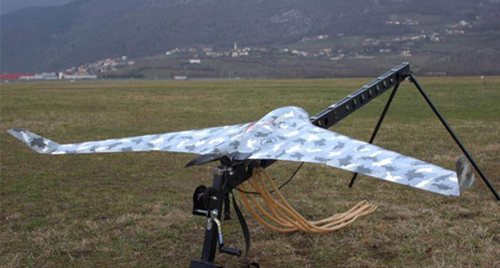 Image of a BRAMOR C4EYE unmanned aircraft.