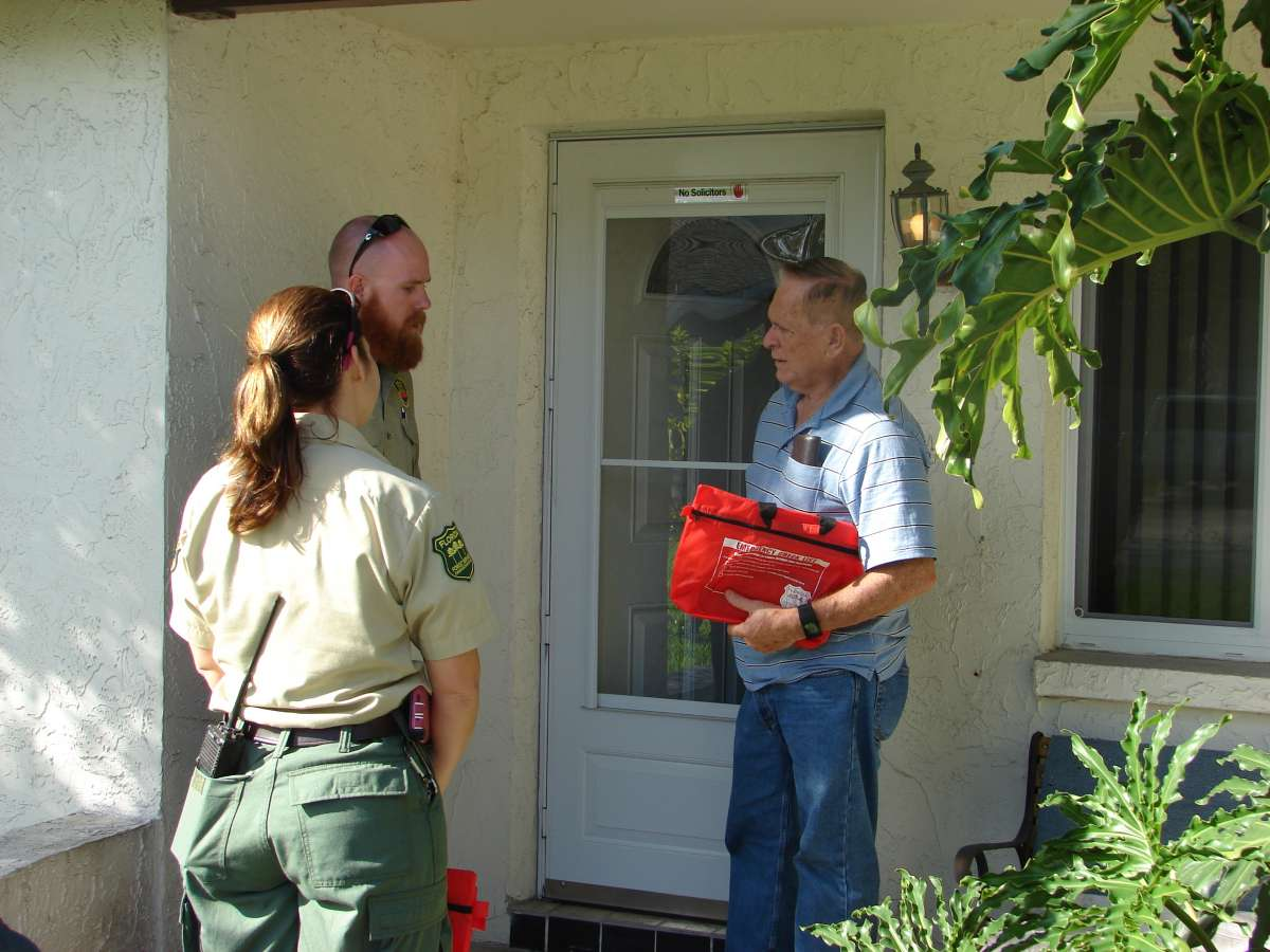 Florida Hudson going door to door
