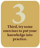 Third, try some exercises to put your knowledge into practice.