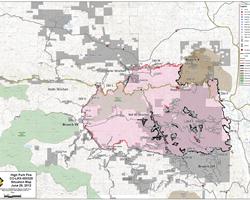 High Park Fire Map.High Park Fire Situation Map Nwcg