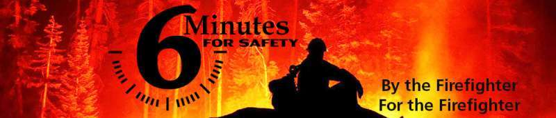 6 Minutes for Safety banner and logo