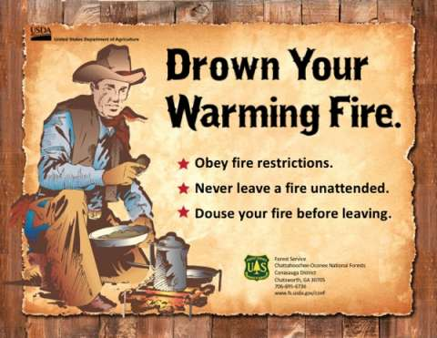 Drown Your Warming Fire with cowboy cooking by campfire
