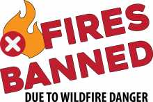 Fires Banned Due to Wildfire Danger Sign, 36x24