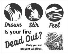 Drown, stir, feel. Is your fire dead out?