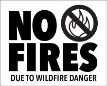 No fires due to wildfire danger