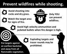 Prevent wildfires while target shooting