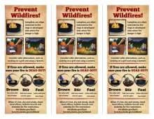 Prevent Wildfires 3 up, back