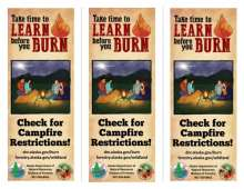 Learn Before You Burn 3 up Rack Card, front