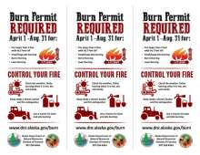 Burn permit required side 2 of learn before you burn with tips