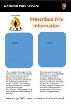 NPS Prescribed fire information board. with sleeves for flyers