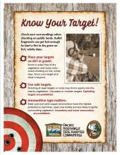 Know your target with photo of shooter and tips on shooting on public lands