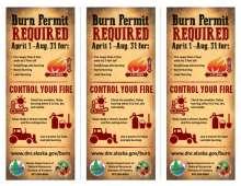 Alaska Take Time to Learn Before You Burn Rack Card back