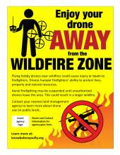 Enjoy your drone away from the wildfire zone