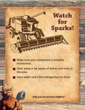 Watch for Sparks flyer with farm equipment, tips and Smokey Bear
