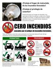 CERO INCENDIOS causados por el peligro de incendios forestales.