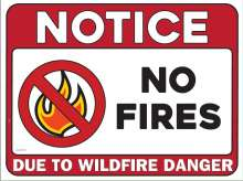 Notice: No fires due to Wildfire Danger