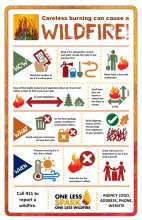 Tips on how to prevent wildfires while burning debris