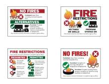 Fire restriction graphics