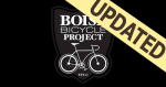 Photo of Boise Bicycle Project logo with updated banner in upper left corner.