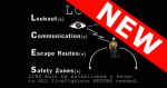 "Graphical image of the LCES commands with a man and an eye representing that he look around. With ""NEW"" banner."