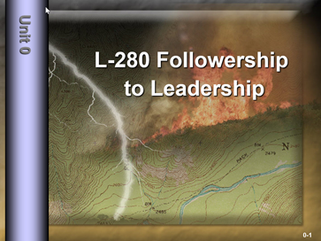 Slide 1 of intro unit for L-280 Firefighter Training.