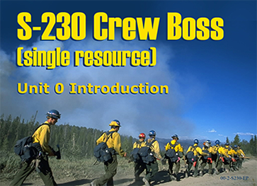 Slide 1 of Introduction for S-230 Crew Boss (Single Resource)
