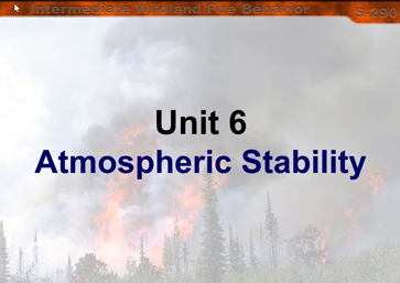 Slide 1 of Unit 6 for S-290 Intermediate Wildland Fire Behavior