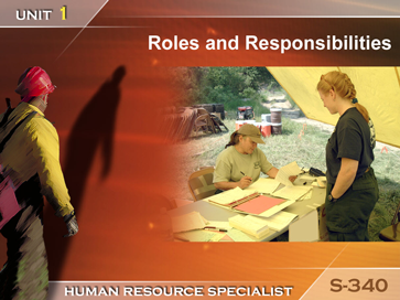 Slide 1 of Unit 1 for S-340 Human Resource Specialist