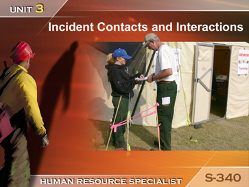 Slide 1 of Unit 3 for S-340 Human Resource Specialist