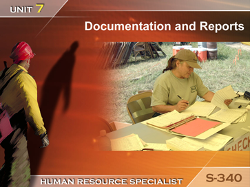 Slide 1 of Unit 7 for S-340 Human Resource Specialist