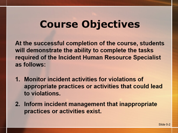 Slide 1 of Unit 0 Introduction for S-340 Human Resource Specialist