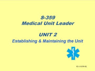 Slide 1 of Unit 2 for S-359