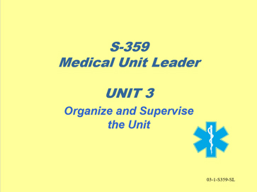Slide 1 of Unit 3 for S-359