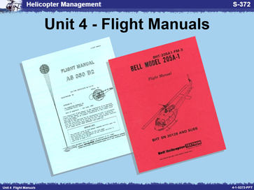 Slide 1 of Unit 4 for S-372 Helicopter Management