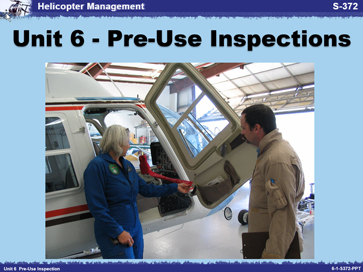 Slide 1 of Unit 6 for S-372 Helicopter Management