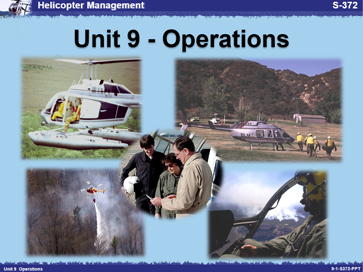 Slide 1 of Unit 9 for S-372 Helicopter Management