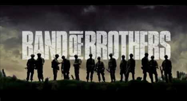 image of soldiers standing in a line in Band of Brothers movie