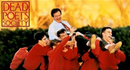 image of Robyn Williams and students in Dead Poets Society movie