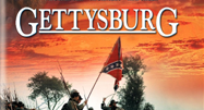 image of Confederate flag in Gettysburg movie