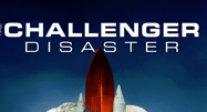 image of shuttle in Challenger Disaster movie poster