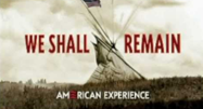 image of tent in We Shall Remain movie poster