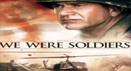 image of soldier and helicopter in We Were Soldiers movie poster