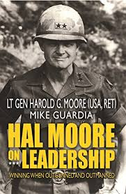 image of book jacket for Hal Moore on Leadership