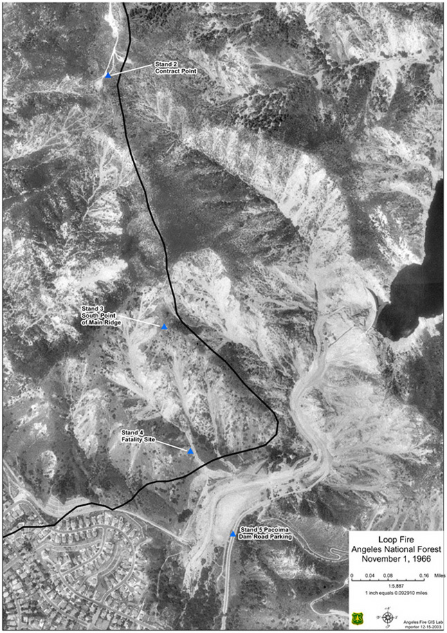 Southeast Flank Orthophoto with fire edge shown