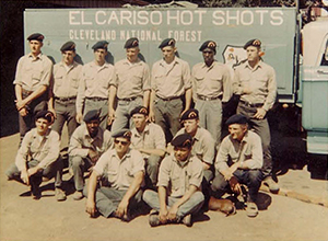 El Cariso Hotshots: Photo of Crew 2 taken in October 1966.