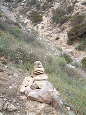 Rock cairn that marks Stand 4. This was put up in 2002.